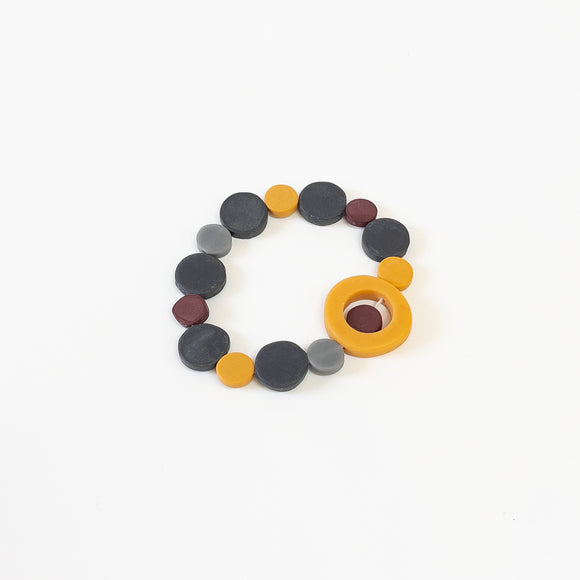 Resin Hoop & Disc Bracelet