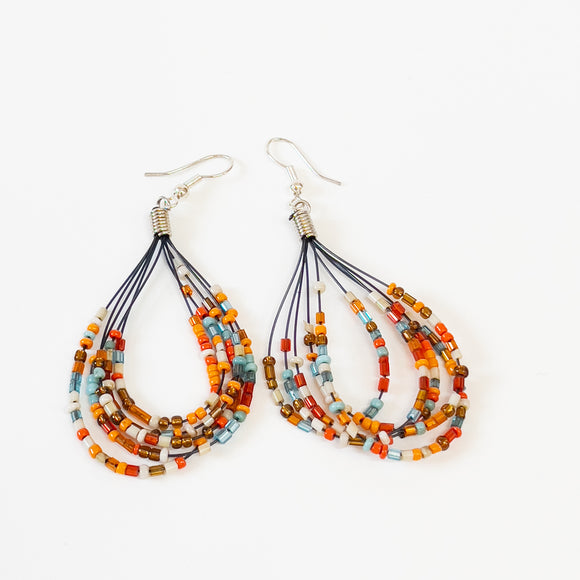 Multi-colour Crystal Bead Earrings