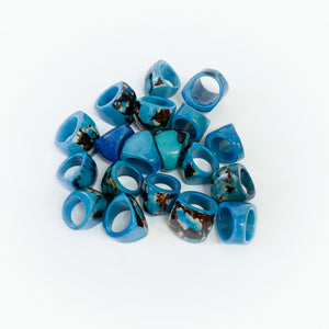 Tagua Chunky Rings Size 8-8.5