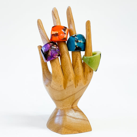 Tagua Chunky Rings Size 9-9.5