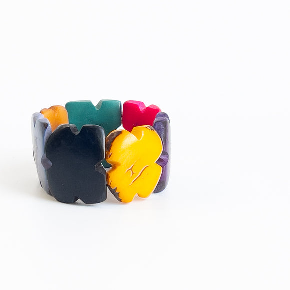 Tagua Bracelet - Colour Blocks