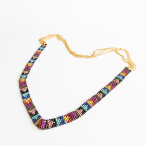 Woven Bead & Chain Necklace