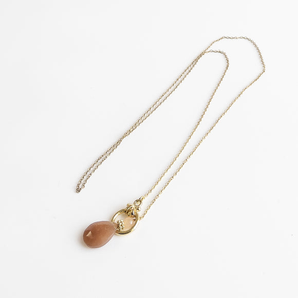 Taupe Lariat Necklace
