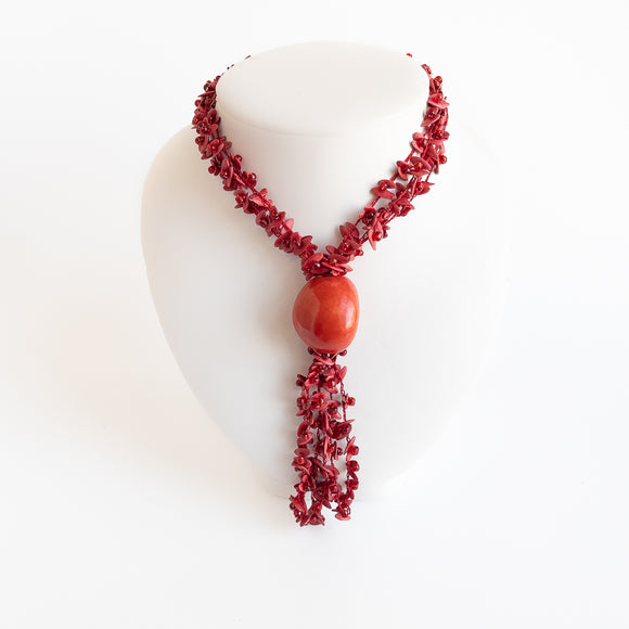 Melon Seed & Tagua Necklace