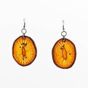 Fruit Slice Earrings - Kiwi