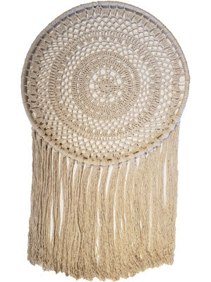 Natural Cotton Macrame Dreamcatcher