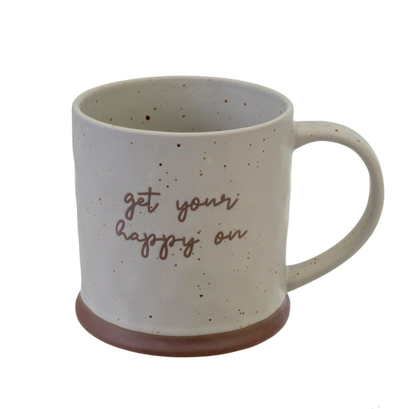 Stoneware Mug - Get Your Happy On
