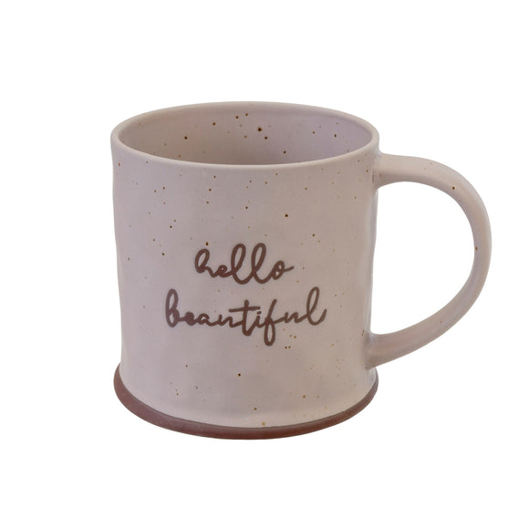 Stoneware Mug - Hello Beautiful Mug
