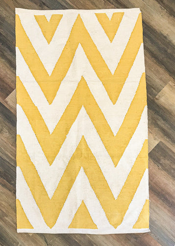 Gold Chevron Accent Rug