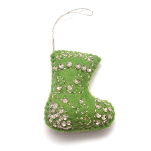 Felt Ornament - Sequened Stocking