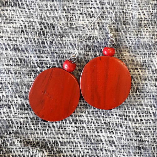 Wooden Earrings from Bali