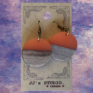 Resin & Wood Earrings