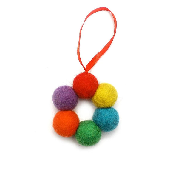 Felt Ornament - Ball Wreath