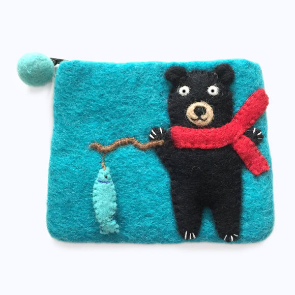 Black Bear Fishing Mini Purse