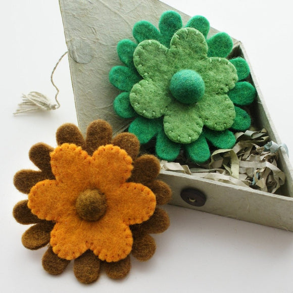 Felted Flower Brooch