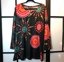 Leopards & Roses stretch tunic