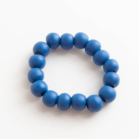 Simple Wooden Ball Bracelet