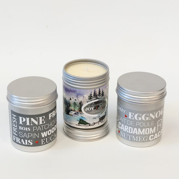 Candles in Travel Tins