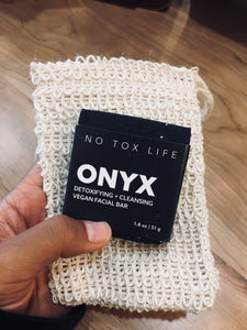 Onyx Soap/Scrubbing Bag/Scrub