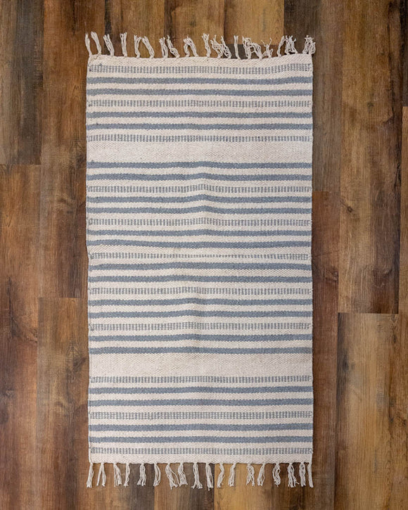 Grey & Cream Area Rug