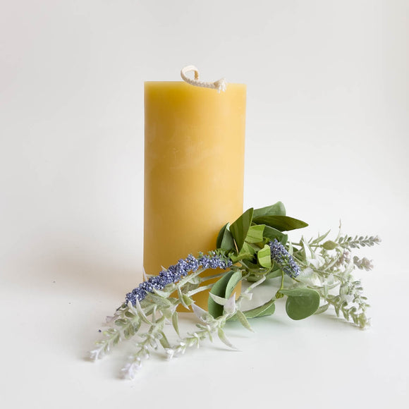 Beeswax Candles - 3x6 inch Pillar