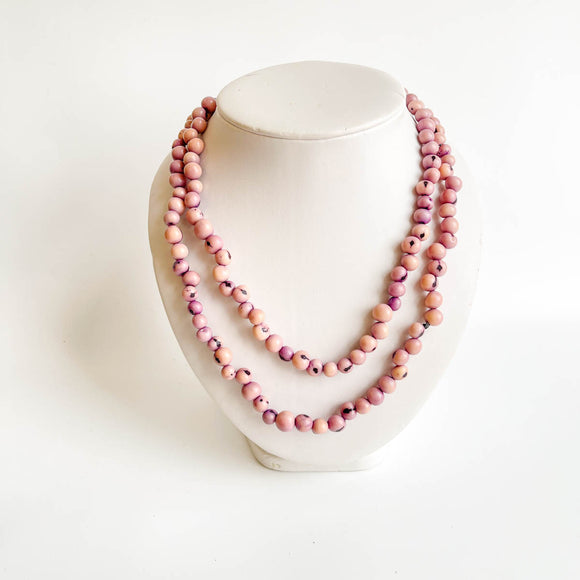 Acai Bead Necklace - Long Single Strand