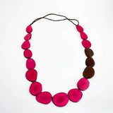 Tagua  Slice Long Necklace
