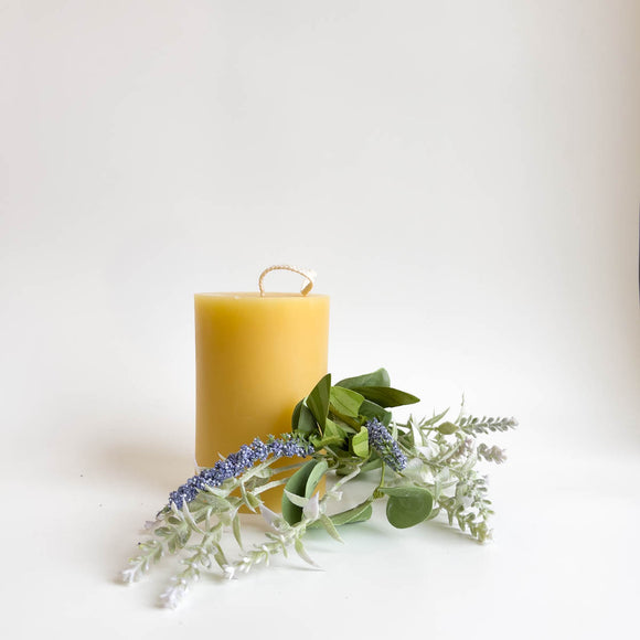 Beeswax Candles - 3x4 inch Pillar