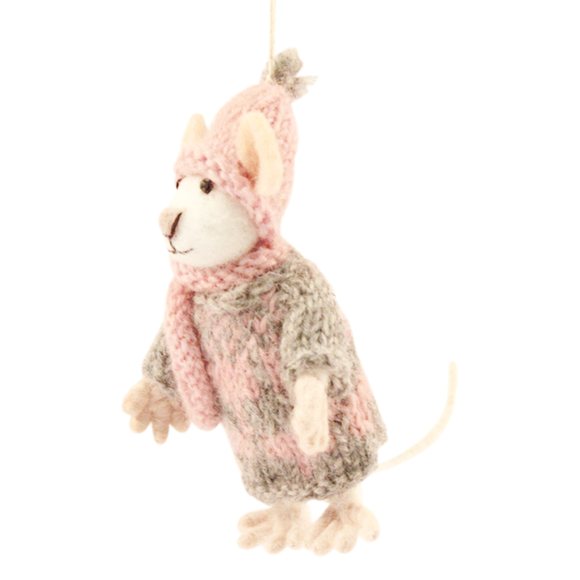 Mouse with Pink Hat