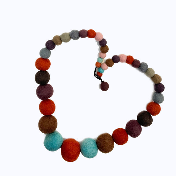 Felt-ball Multi-colour necklace