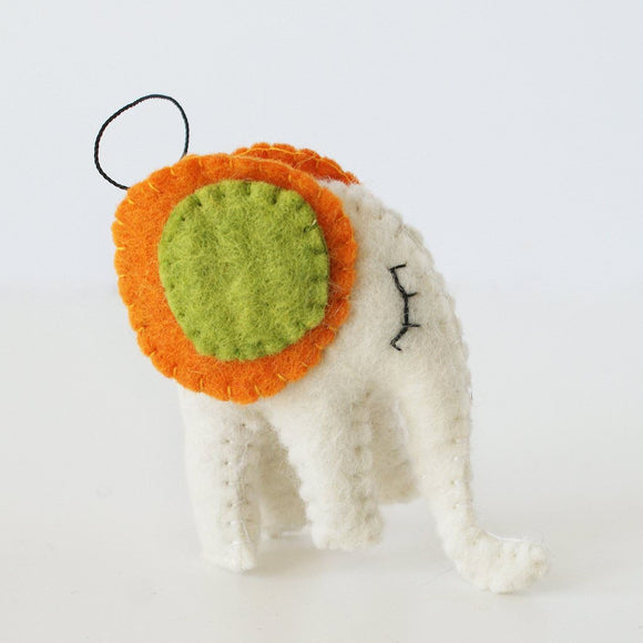 Felt Ornament - Elephant