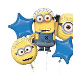 Minions themed balloon bouquet (no helium)