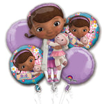 Doc mc stuffins themed balloon bouquet (no helium)