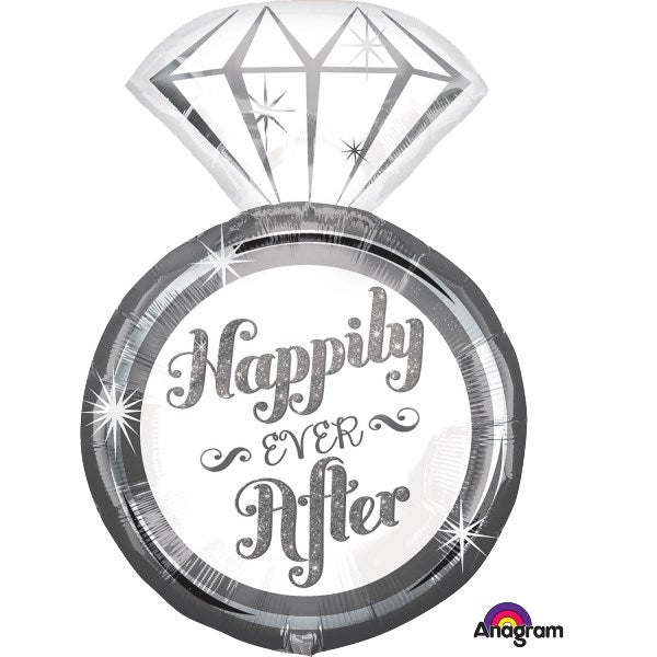 Happily ever after wedding Balloon  (no helium)