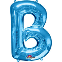 "letter B 34"" foil balloon all image colours available. ( No Helium )"