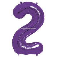 "Number 2 40"" foil balloon all image colours available. (No Helium)"