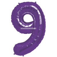"Number 9 40"" foil balloon all image colours available. (No Helium)"