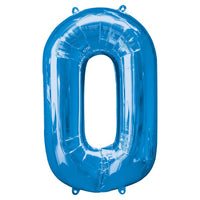 "Number 0 40"" foil balloon all image colours available. ( No Helium )"