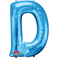 "Letter D 34"" foil balloon all image colours available. ( No Helium )"