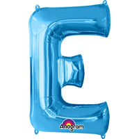 "Letter E 34"" foil balloon all image colours available. ( No Helium )"