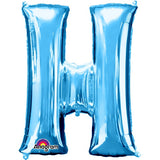 "Letter H 34"" foil balloon all image colours available. ( No Helium )"