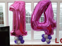 Two figure Birthday balloon set