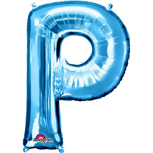 "Letter P 34"" foil balloon all image colours available. ( No Helium )"