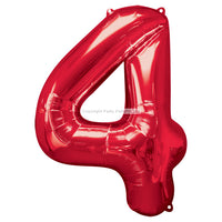"Number 4 40"" foil balloon all image colours available. (No Helium)"