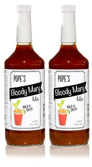 2 Pack - Pope's Bloody Mary Bold & Spicy - 32 oz