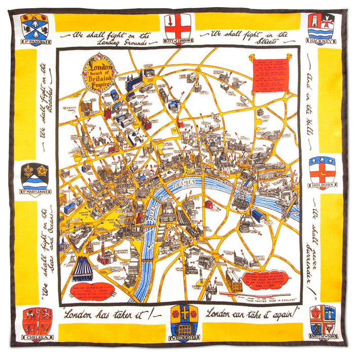 Rampley & Co London WWII Bombings Pocket Square