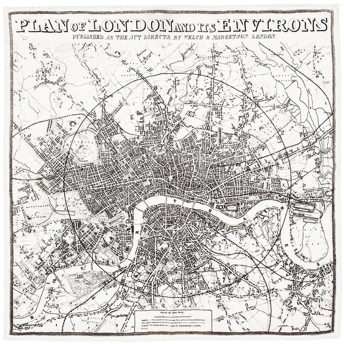Rampley & Co Plan of London and it's Environs Pocket Square