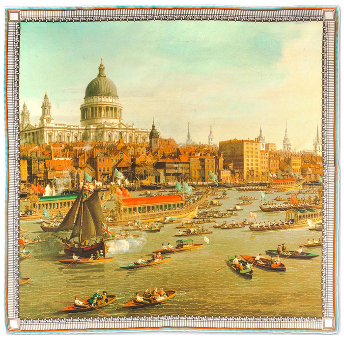 Rampley & Co The River Thames with St. Paul's Cathedral Pocket Square