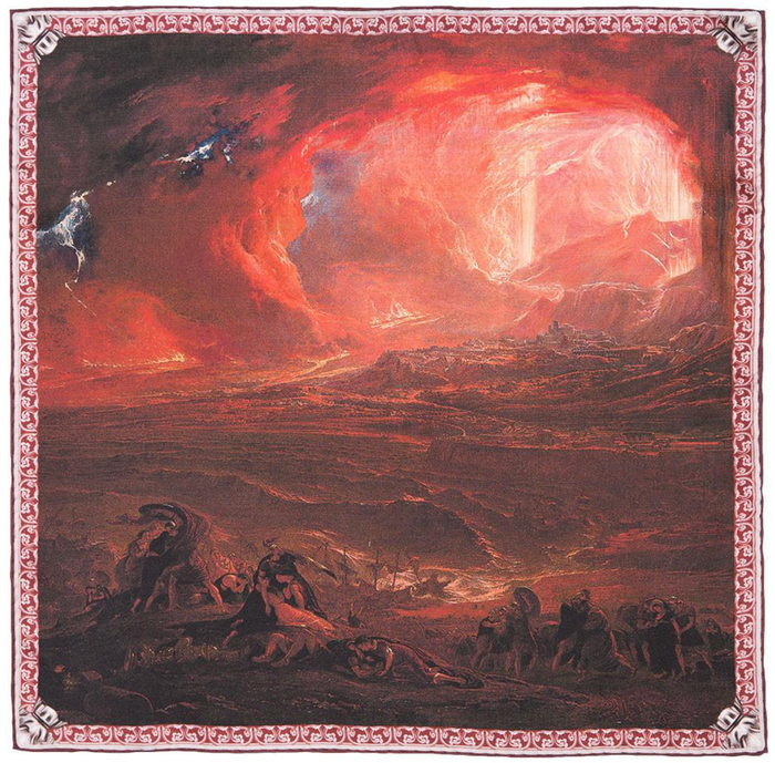 Rampley & Co The Destruction of Pompeii and Herculaneum Pocket Square
