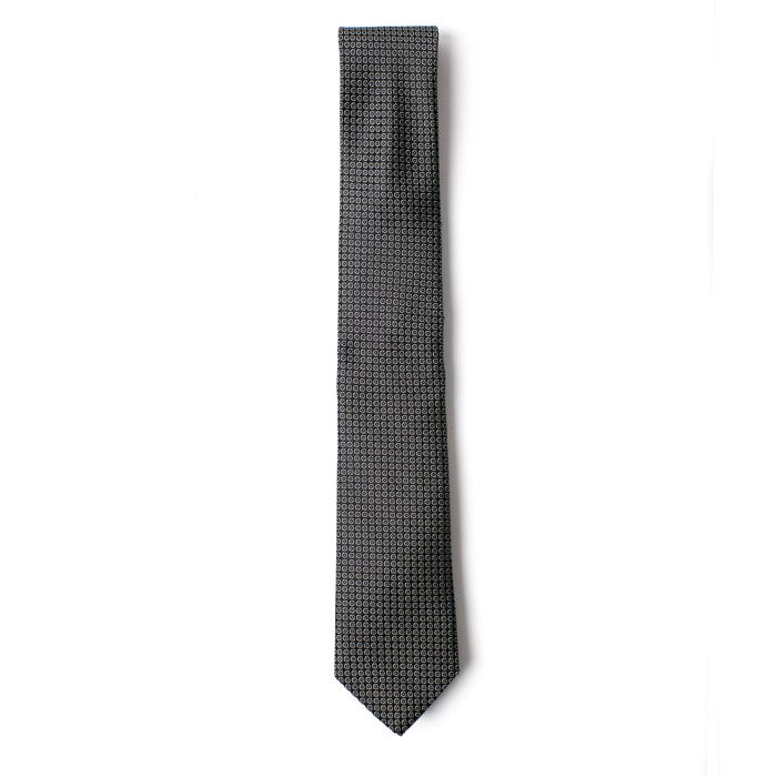Black and Silver Textured Dot Tie